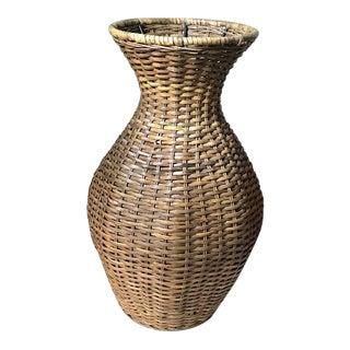 Vintage Rattan Vase