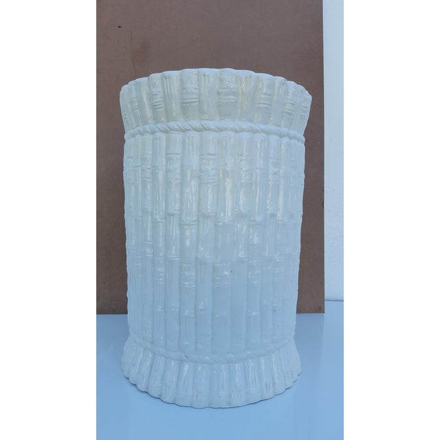 Italian Faux Bamboo Ceramic Stool . - Image 2 of 8