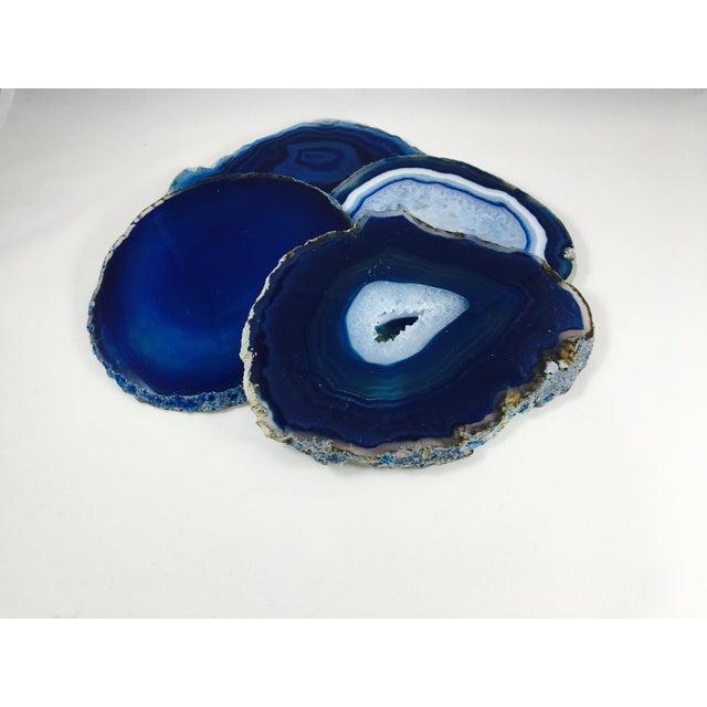 Blue Agate Slice Coasters - Set of 4 - Image 2 of 4