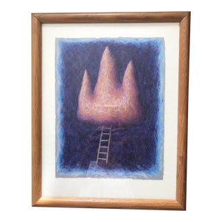Framed Contemporary Surreal Painting