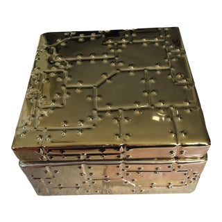 Brutalist Style Rivet Ceramic Box