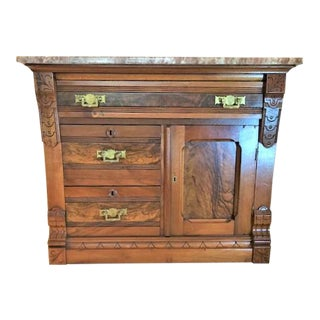 Victorian Eastlake Marble Top Washstand