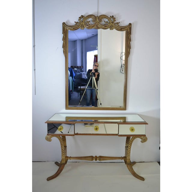 Grosfeld House Vanity and Mirror, circa 1940s - Image 9 of 9