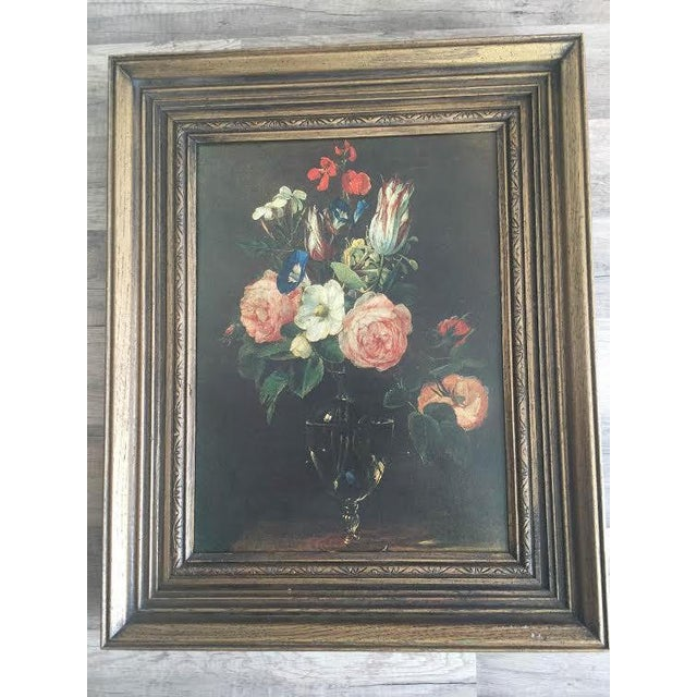 Image of Traditional Moody Floral Painting
