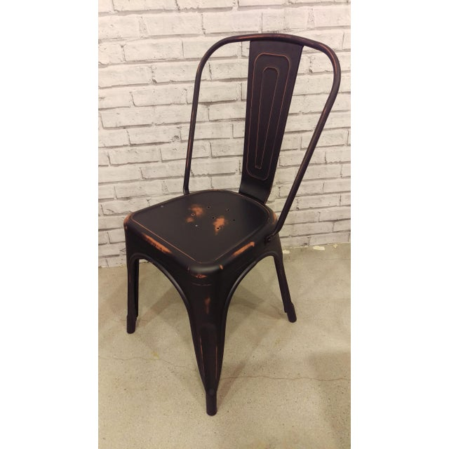 Steel Black Tolix-Style Chairs - Set of 4 - Image 3 of 3