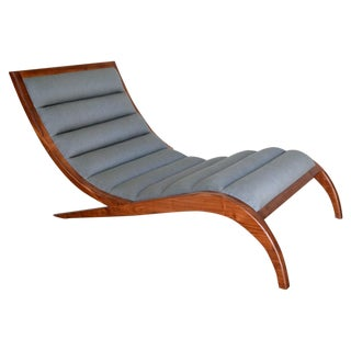 Walnut Framed Chaise Lounge
