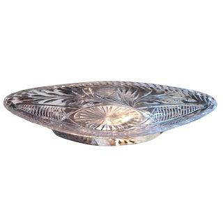 Unusual Shaped Cut Crystal Bowl