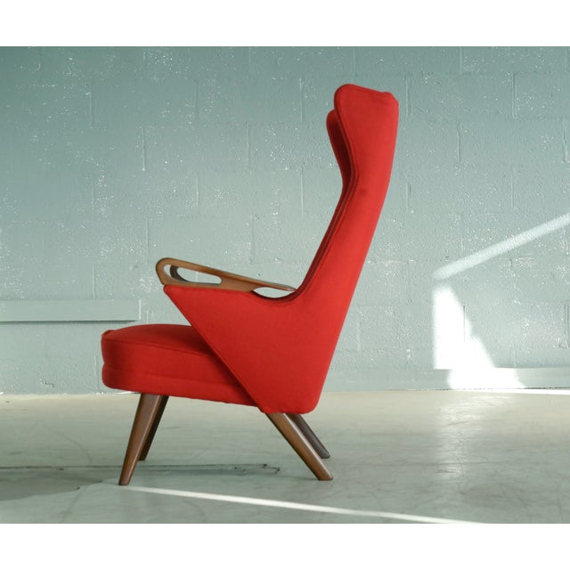 Svend Skipper Attributed 1950s Papa Bear Style Lounge Chair - Image 7 of 8