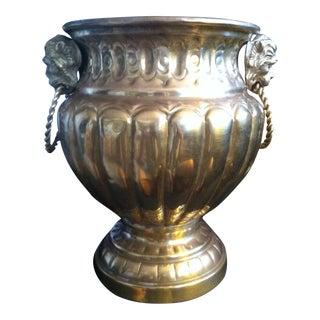 Victorian Hammered Brass Planter