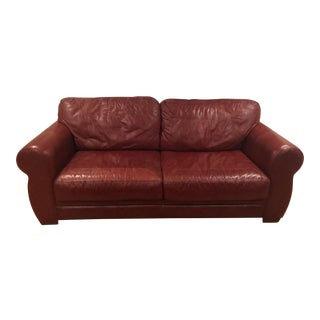 Burgundy Leather Sofa Comfortable