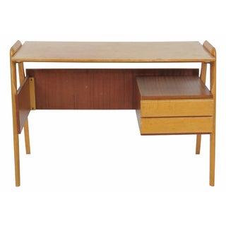 Modern Italian Ico Parisi Style Teak Desk