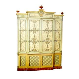 Moderne Polychrome Breakfront Cabinet