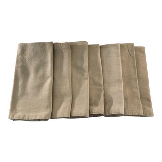 Tan Cotton Napkins - Set of 7