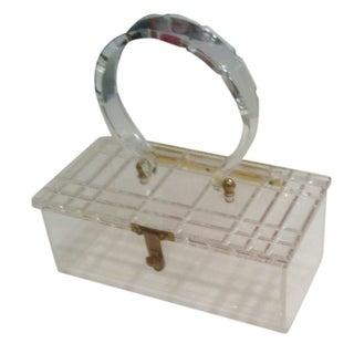 Clear Lucite Box Purse