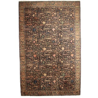 RugsinDallas Antique Hand Knotted Wool Indian Agra Rug - 15′1″ × 23′5″