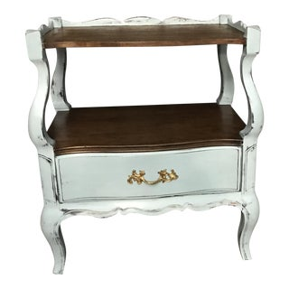 Blue French Provincial Nightstand