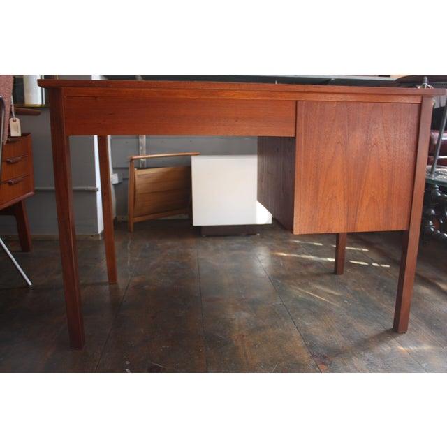 Danish Modern Teak Student Desk - Image 9 of 10