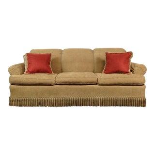 LeeJofa Fringed Sofa & Matching Throw Pillows