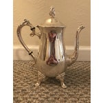 Image of Circa 1940s Mid-Century Sheridan Silver Plated Coffee Pot