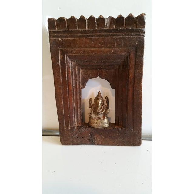 19th Century Carved Wood Shrine - Image 2 of 5