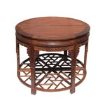 Image of Chinese Huali Rosewood Carved Round Table