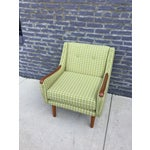 Image of Mid Century Modern Chair Recovered in Duralee