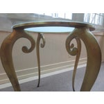 Image of 1960's Italian Brass & Glass Table