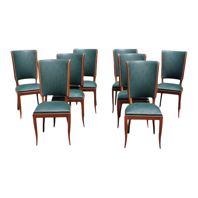 c french art deco mahogany dining chairs set of 3