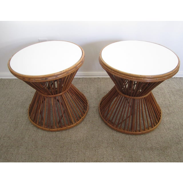 Franco Albini-Style Rattan Side Tables - A Pair - Image 5 of 8