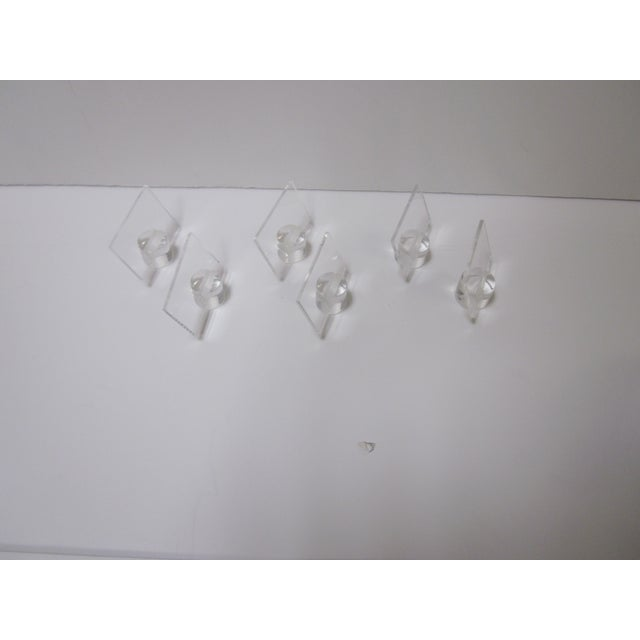 Image of Lucite Card Easel Display Holders - Set of 6