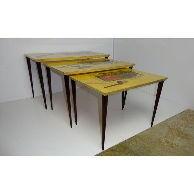 Aldo Tura Parchment Gigogne Tables - Set of 3 - Image 7 of 8