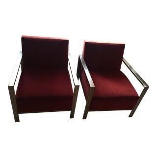 """Identical """"Zinc"""" Custom Chairs - A Pair"""