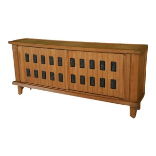 Fine Sycamore, Oak and Parcel Ebonized Credenza by Maurice Pre