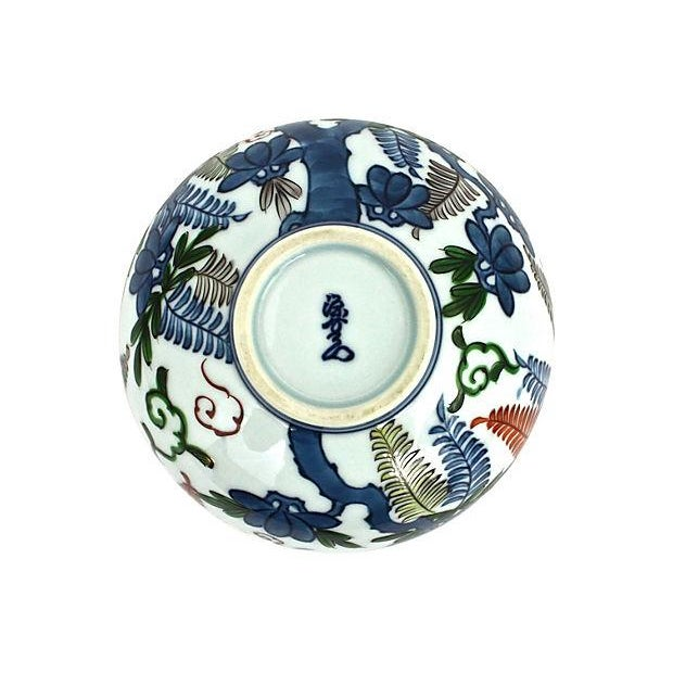 Image of Asian Hand-Painted Orb Bud Vase