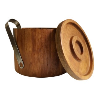 Dansk Teak Ice Bucket & Tongs - A Pair