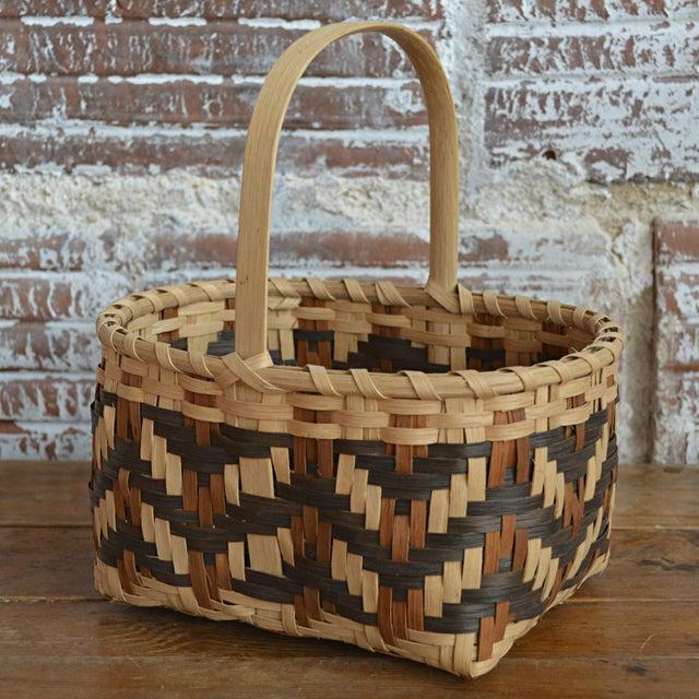 Carol Welch Cherokee White Oak Small Market Basket - Image 5 of 9
