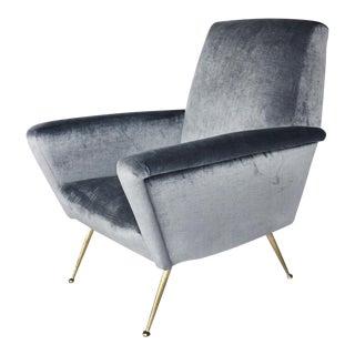 Restored Italian Mid-Century Modern Armchair