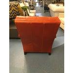 Image of Orange Leather Midcentury Chair