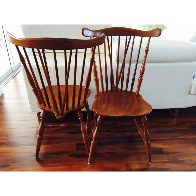 Heywood Wakefield American Braceback Chairs - Pair - Image 3 of 8