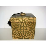 Image of Wooden Florentine Style Box with Tassels