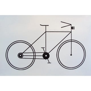 Modern Black and White Geometric Bicycle Poster