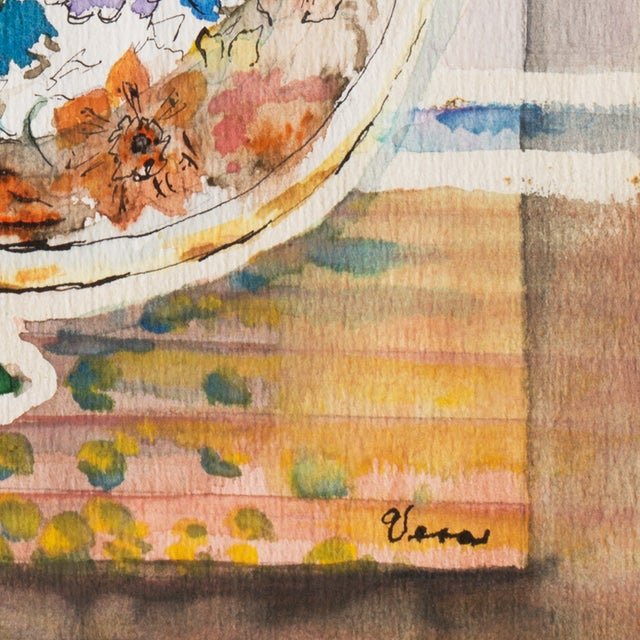 Plate & Fruit by Vera Indenbaum, 1984 Painting - Image 5 of 5