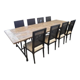 Restoration Hardware Flatiron Dining Table & Chairs