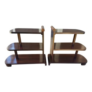 Art Deco Streamline Tables - A Pair