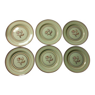 Franciscan Ware Padua Celadon Plates - Set of 6