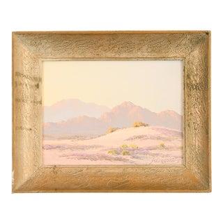 John Hilton Desert Spring Landscape Oil Painting