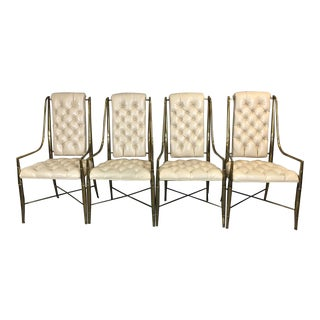 Mastercraft Brass Dining Chairs - Set of 4