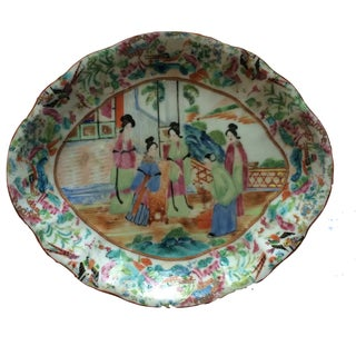 Famille Rose Sweet Meat Plate, 19th Century