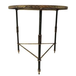 Vintage Black & Gold Mirror Top Side Table