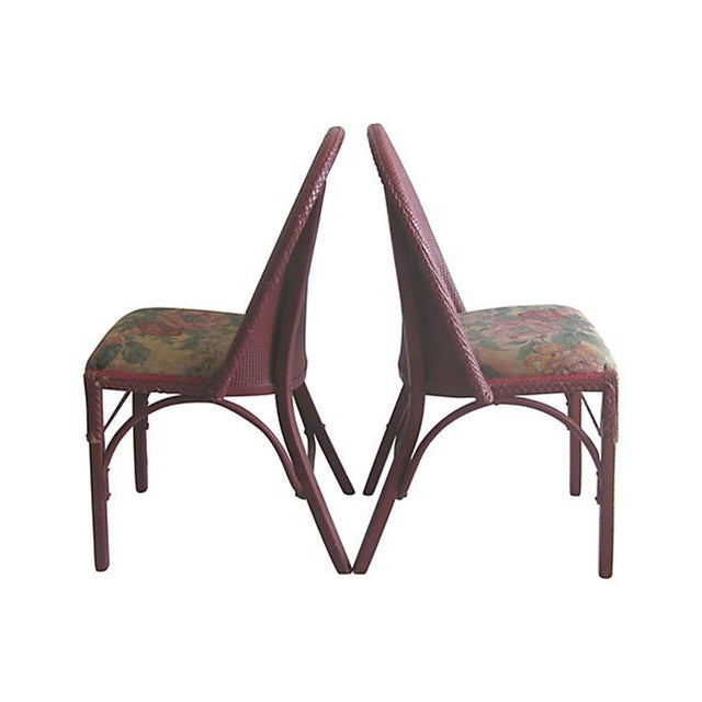 Image of Lloyd Loom Wicker Bentwood Chairs - Set of 4